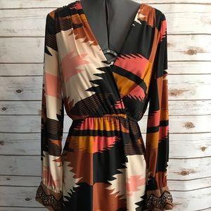 Judith March tribal print dress medium